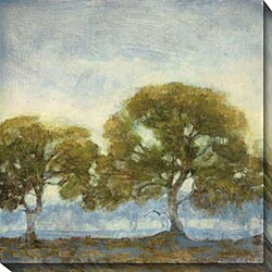 Kim Coulter 'Oaks in the Mist I' Oversized Canvas Art