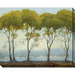 Gallery Direct Kim Coulter 'Green Tree Line I' Canvas Art