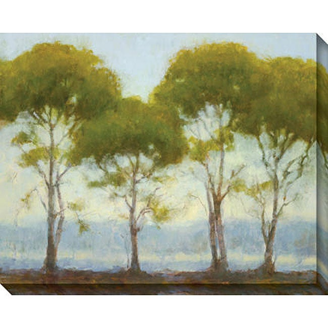 Kim Coulter 'Green Tree Line II' Canvas Art