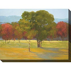 Gallery Direct Kim Coulter 'Oak with Red Trees' Oversized Canvas Art