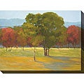 Kim Coulter 'Oak with Red Trees' Oversized Canvas Art