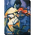Karen Silve 'Violinist' Gallery-wrapped Canvas