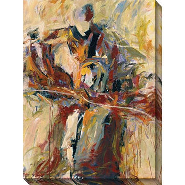 Karen Silve 'My Favorite Iris' Oversized Canvas Art