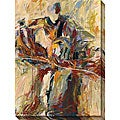 Karen Silve 'My Favorite Iris' Oversized Canvas Art