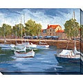 Karen Wilkerson 'La Roschelle Harbour I' Oversized Canvas Art