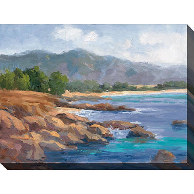 Karen Wilkerson 'Ocean View II' Oversized Canvas Art