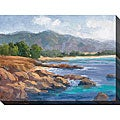 Karen Wilkerson 'Ocean View II' Oversized Canvas Art