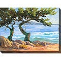 Karen Wilkerson 'Wind-blown Cypress I' Oversized Canvas Art