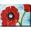 Gallery Direct Laura Gunn 'Poppies on Blue I' Oversized Canvas Art