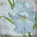 Laura Gunn 'Iris in Periwinkle' Oversized Canvas Art