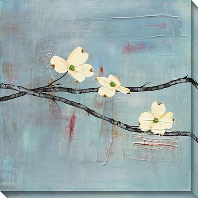 Gallery Direct Laura Gunn 'Dogwood on Blue II' Giclee Canvas Art