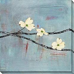 Laura Gunn 'Dogwood on Blue II' Giclee Canvas Art