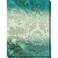 Leslie Saris 'Aquatic Design I' Giclee Canvas Art