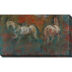 Maeve Harris 'Paddock I' Oversized Canvas Art
