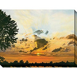Jon Eric Narum 'Sunset' Oversized Canvas Art