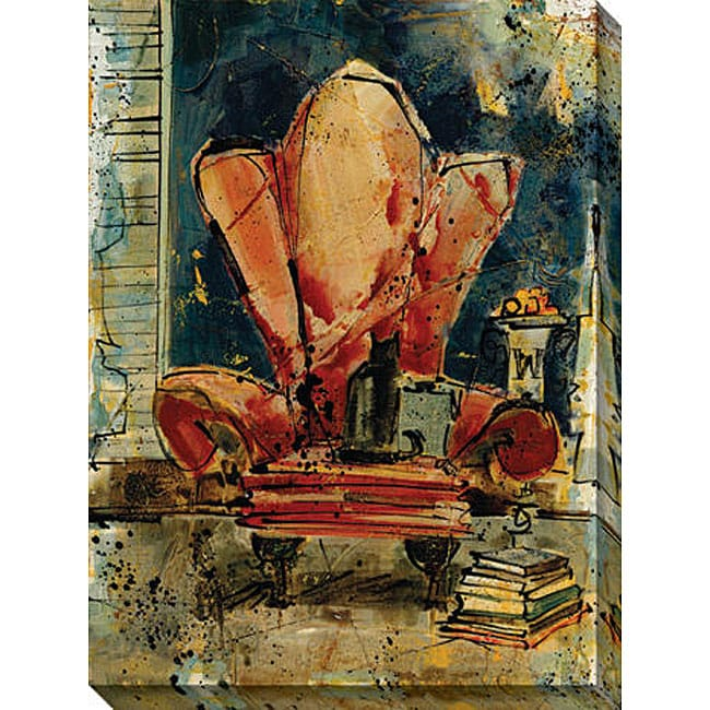 Olivia Maxweller 'Chunkie's Chair' Oversized Canvas Art