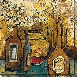 Olivia Maxweller 'Bottles' Oversized Canvas Art
