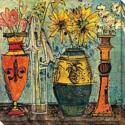 Maxweller 'Flowers In Ceramic And Glass II' Canvas Art
