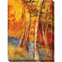 Sylvia Angeli 'Mountain Memories III' Oversized Canvas Art