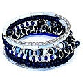 Bone Five Turn Bright Blue Bracelet (2.5 inches)(India)