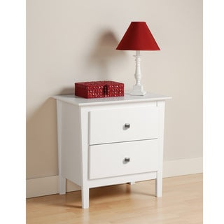Woodbury White 2-drawer Nightstand