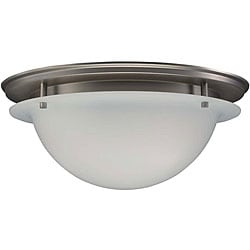 Brushed Nickel 3-light Ceiling Fixture