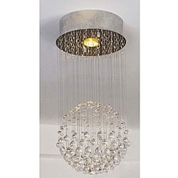 Chrome 1-light Crystal Glass Accent Pendant