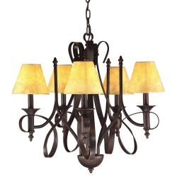 Tannery Bronze 5-light Chandelier