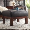 TRIBECCA HOME Hills Bi-cast Faux Leather Ottoman