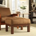 ETHAN HOME Hills Mission Oak and Rust Ottoman
