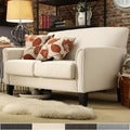 ETHAN HOME Uptown Peat Microfiber Suede Modern Loveseat