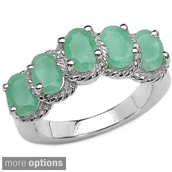 Malaika Sterling Silver 5-gemstone Ring