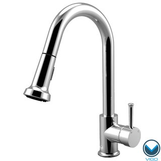 VIGO Chrome Pull-Out Spray Single-Lever Kitchen Faucet
