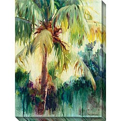 Allyson Krowitz 'Island Palm' Oversized Canvas Art