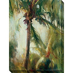 Allyson Krowitz 'Tropical Palm' Gallery-wrapped Art