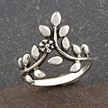 Handmade Sterling Silver 'Leaves' Ring (Thailand)