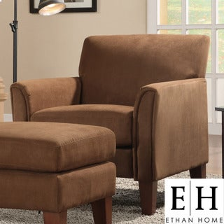 ETHAN HOME Uptown Mocha Microfiber Modern Arm Accent chair