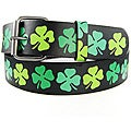Iced Out Gear Men's 'Green Clover' Belt