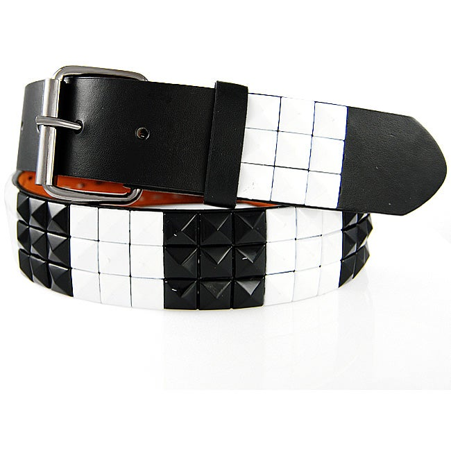 Iced Out Gear Men's 'Square Studs' Belt