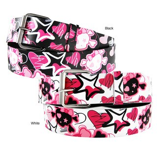Iced Out Gear Women's 'Skulls Hearts & Stars' Belt