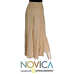 Cotton 'Thai Sands' Wrap-around Skirt (Thailand)