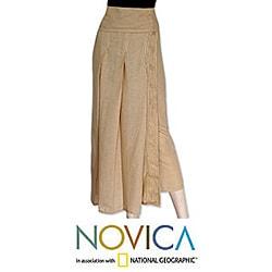 Cotton 'Thai Sands' Wrap-around Skirt (Thailand)