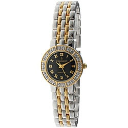 Peugeot Women's Two-tone Black Dial Diamond Watch
