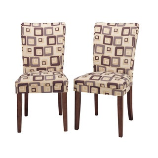 Parson Brick Upholstered Dining Chairs (Set of 2)