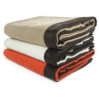Cashmere Showroom Rayon from Bamboo Driving Blanket with Suede Edging