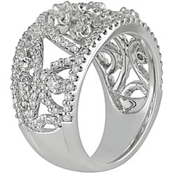 Miadora 18k White Gold 1 1/10ct TDW Diamond Ring (G-H, SI1)