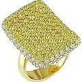 Miadora 18k Gold 1 4/5ct TDW Diamond Yellow Sapphire Ring (I-J, I2-I3) (Size 8)