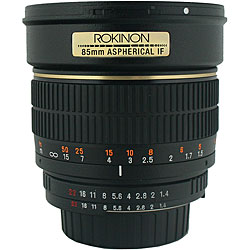 Rokinon 85mm f/1.4 Portrait Lens for Pentax Cameras