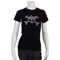 Los Angeles Pop Art Women's Rhinestone Skull T-shirt