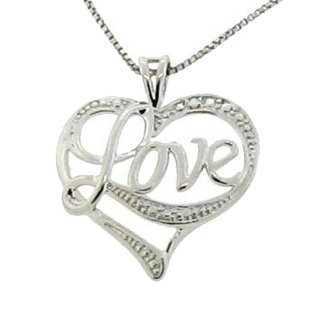 Sterling silver 39 love 39 heart necklace 11950434 for L love jewelry reviews